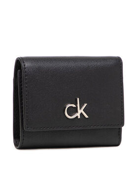 Calvin Klein Calvin Klein Kleine Damen Geldbörse Re-Lock Trifold Xs K60K608456 Schwarz