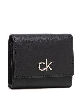 Calvin Klein Calvin Klein Malá dámska peňaženka Re-Lock Trifold Xs K60K608456 Čierna