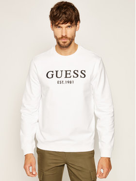 Guess Guess Sweatshirt Bastian M0YQ31 K7ON0 Weiß Slim Fit
