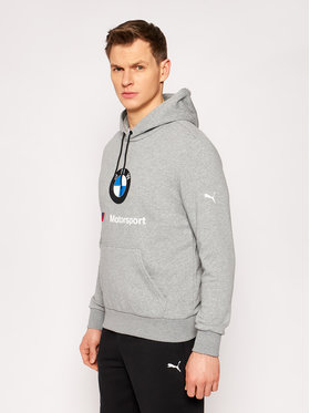 Puma Puma Bluză BMW Motorsport Ess Logo 599533 Gri Regular Fit