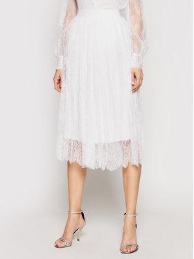 Ermanno Firenze Ermanno Firenze Plisovaná sukňa GN05PIZ Biela Regular Fit