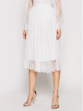 Ermanno Firenze Ermanno Firenze Plisovaná sukně GN05PIZ Bílá Regular Fit