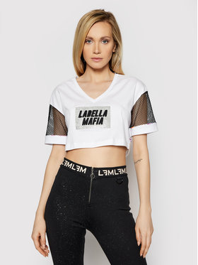 LaBellaMafia LaBellaMafia Bluzka 21388 Biały Regular Fit