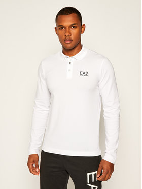 EA7 Emporio Armani EA7 Emporio Armani Polo marškinėliai 8NPF05 PJM5Z 1100 Balta Regular Fit