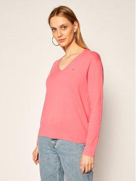 Tommy Jeans Tommy Jeans Sweter DW0DW08871 Różowy Regular Fit