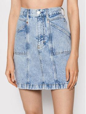 Tommy Jeans Tommy Jeans Džínsová sukňa DW0DW11028 Modrá Mom Fit
