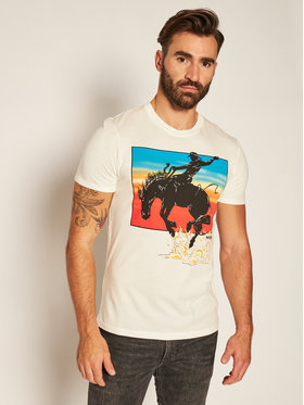 Wrangler Wrangler T-shirt Graphic Horse W7H1D3737 Bianco Regular Fit