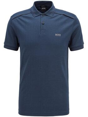Boss Boss Тениска с яка и копчета Paule Tr 50435671 Тъмносин Slim Fit