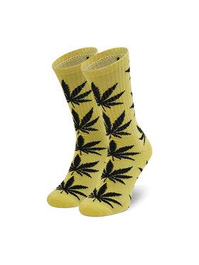 HUF HUF Дълги чорапи unisex Essentials Plantlife Sock SK00298 r. OS Жълт