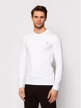 Guess Guess Marškinėliai ilgomis rankovėmis M1RI28 J1311 Balta Super Slim Fit