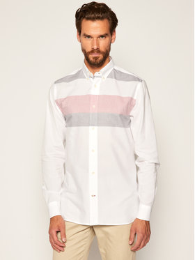 TOMMY HILFIGER TOMMY HILFIGER Риза Natural Soft Global MW0MW13443 Бял Regular Fit