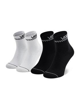 Vans Vans Moteriškų ilgų kojinių komplektas (2 poros) 2 Pack Peek VN0A4Q64Y281001 r. OS Balta