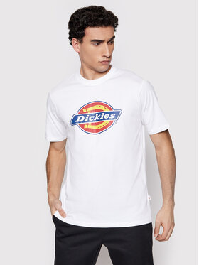 Dickies Dickies Тишърт Icon Logo DK0A4XC9WHX1 Бял Regular Fit