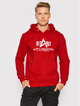Alpha Industries Alpha Industries Sweatshirt Basic 178312 Rot Regular Fit
