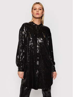 TWINSET TWINSET Коктейлна рокля 212AT2080 Черен Regular Fit