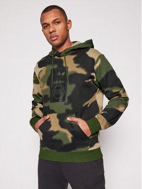 adidas adidas Суитшърт Camo Aop Hoodie GN1879 Зелен Regular Fit