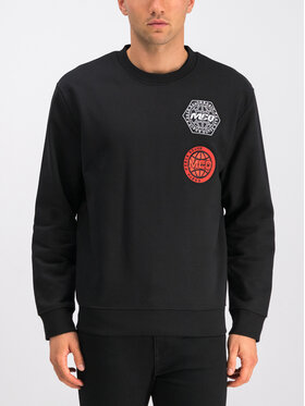 MCQ Alexander McQueen MCQ Alexander McQueen Sweatshirt 415099 RNT17 1000 Schwarz Regular Fit