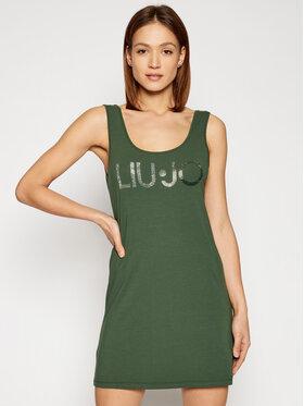 Liu Jo Beachwear Liu Jo Beachwear Sukienka letnia VA1060 J5003 Zielony Regular Fit