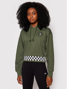 Vans Vans Суитшърт Boom Boom 66 VN0A5JGD Зелен Cropped Fit