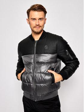Trussardi Jeans Trussardi Jeans Μπόμπερ μπουφάν Print Nylon Light 52S00467 Μαύρο Regular Fit