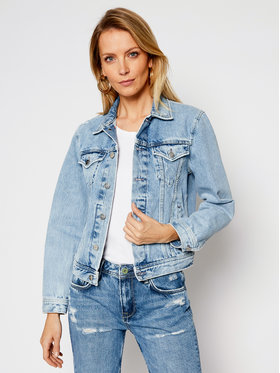 Pepe Jeans Pepe Jeans Geacă de blugi ARCHIVE Rose PL401829 Albastru Regular Fit