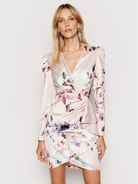 Rinascimento Rinascimento Sukienka koktajlowa CFC0102277003 Beżowy Slim Fit