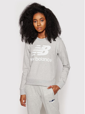 New Balance New Balance Bluza Essentials Crew WT03551 Szary Relaxed Fit