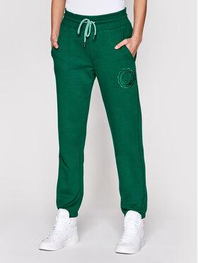 PLNY LALA PLNY LALA Teplákové nohavice Liptsitck Mister PL-SP-MS-00049 Zelená Regular Fit