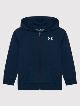 Under Armour Under Armour Bluza Ua Rival Cotton Full Zip 1357613 Granatowy Loose Fit