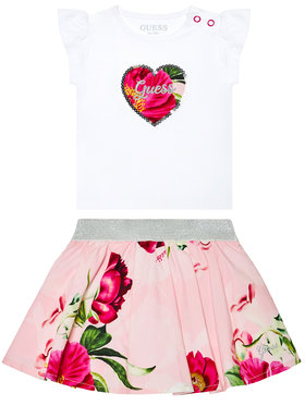 Guess Guess Ensemble t-shirt et jupe A1GG10 K6YW1 Blanc Regular Fit