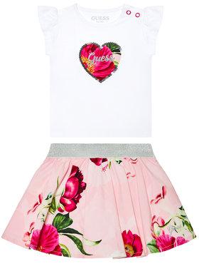 Guess Guess Komplet t-shirt i spódniczka A1GG10 K6YW1 Biały Regular Fit