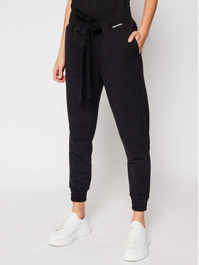 Red Valentino Red Valentino Pantaloni trening VR3MD01M Negru Relaxed Fit