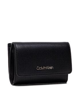 Calvin Klein Calvin Klein Malá dámska peňaženka Trifold Sm Saffiano K60K608338 Čierna