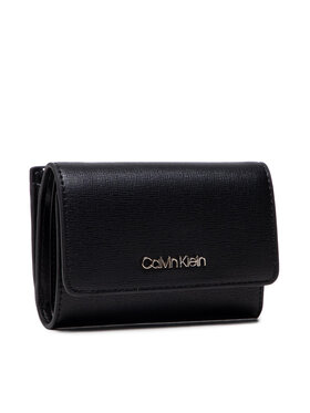 Calvin Klein Calvin Klein Malá dámská peněženka Trifold Sm Saffiano K60K608338 Černá