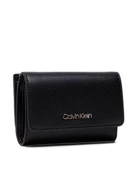 Calvin Klein Calvin Klein Portefeuille femme petit format Trifold Sm Saffiano K60K608338 Noir