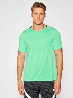 Nike Nike Тениска от техническо трико Dri-Fit Rise CZ9184 Зелен Standard Fit