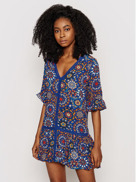 Desigual Desigual Φόρεμα καλοκαιρινό Java 21SWMW22 Μπλε Regular Fit