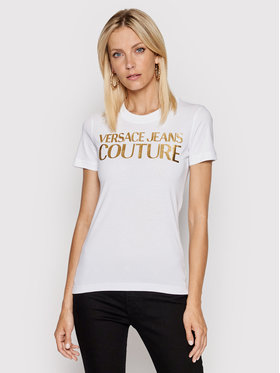Versace Jeans Couture Versace Jeans Couture T-Shirt 71HAHT04 Biały Regular Fit