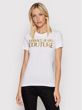 Versace Jeans Couture Versace Jeans Couture Tričko 71HAHT04 Biela Regular Fit