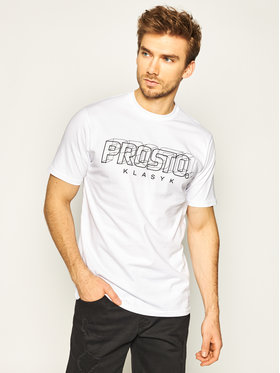 PROSTO. PROSTO. T-shirt KLASYK Distance 8600 Bianco Regular Fit
