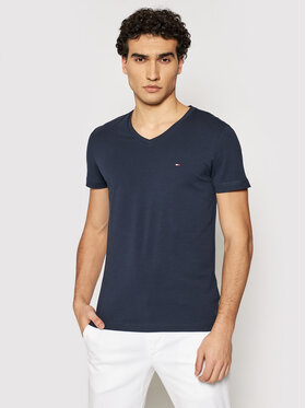Tommy Hilfiger Tommy Hilfiger T-Shirt MW0MW02045 Tmavomodrá Slim Fit