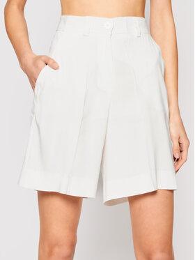 Marella Marella Short en tissu Rivalsa 31410115 Blanc Regular Fit
