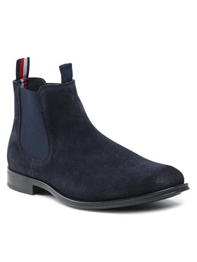 Tommy Hilfiger Tommy Hilfiger Chelsea Casual Suede Chelsea FM0FM03768 Blu scuro