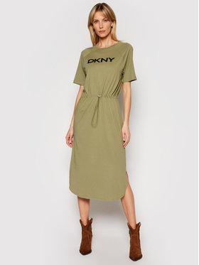 DKNY DKNY Kasdieninė suknelė P1BD7EGQ Žalia Regular Fit
