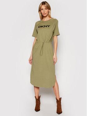 DKNY DKNY Každodenní šaty P1BD7EGQ Zelená Regular Fit