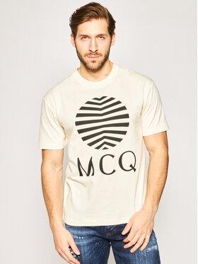 MCQ Alexander McQueen MCQ Alexander McQueen Tričko 291571 ROT37 9089 Oranžová Regular Fit