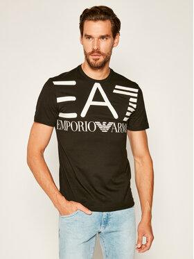 EA7 Emporio Armani EA7 Emporio Armani T-Shirt 6HPT06 PJ02Z 1200 Μαύρο Regular Fit
