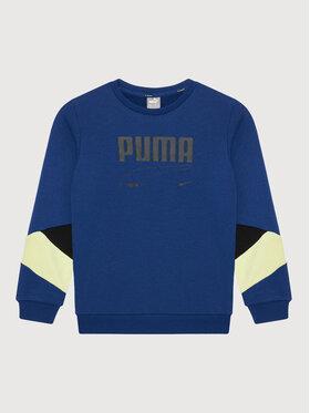 Puma Puma Pulóver Rebel Crew 587019 Sötétkék Regular Fit