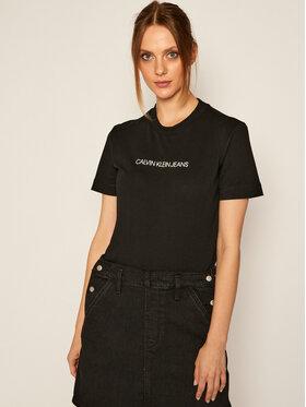 Calvin Klein Jeans Calvin Klein Jeans Tricou J20J214220 Negru Regular Fit