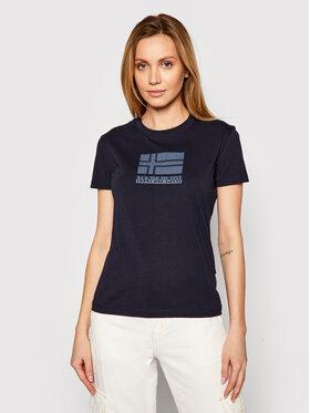 Napapijri Napapijri T-Shirt Seoll NP0A4FAI Granatowy Regular Fit